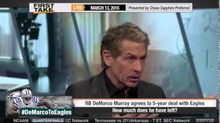 ESPN First Take - Darren McFadden Signs with Cowboys & DeMarco Murray Signs with Eagles