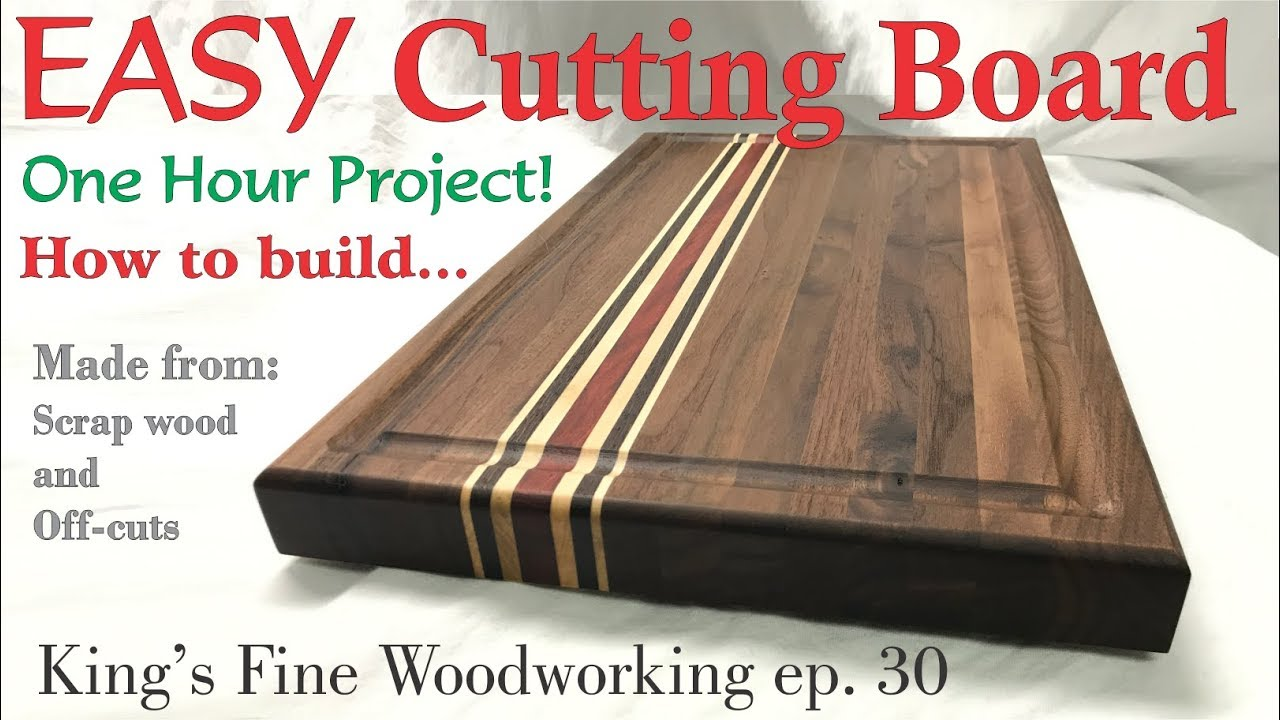 30 How To Build A Walnut Cutting Board In An Hour From Offcuts S