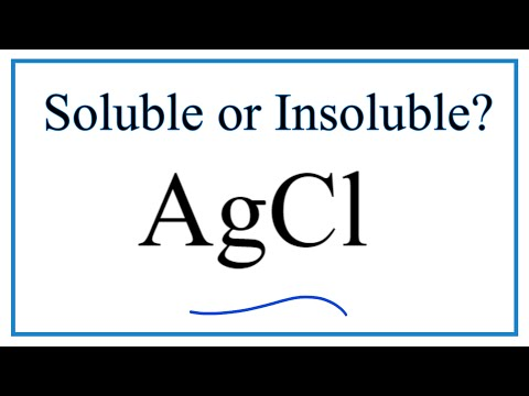 Is AgCl Soluble Or Insoluble In Water?