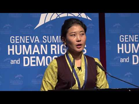 Nyima Lhamo at Geneva Summit 2017