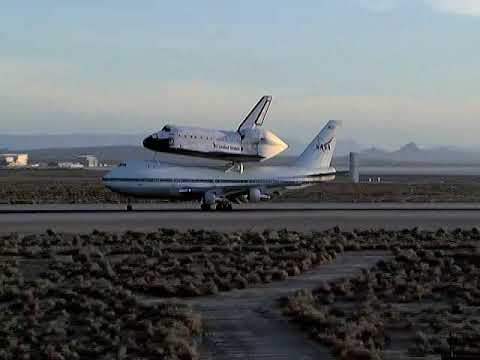 STS-117 Piggyback Takeoff of Space Shuttle Atlantis and 747 from Edwards AFB, Calif.