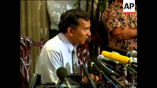 INDONESIA: OPPOSITION LEADER AMIEN RAIS PRESS CONFERENCE