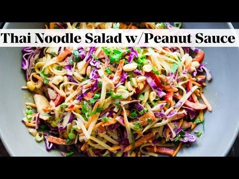 Thai Noodle Salad with BEST-EVER Peanut Sauce!