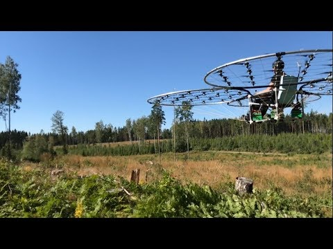 chAIR -Manned quadcopter Open space flight Episode 27