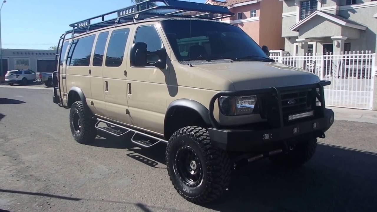 2001 Ford E350 7 3 Diesel Van 4x4 Tan Color