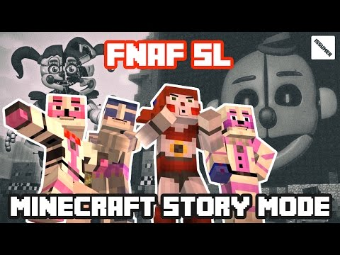 Let's KILL ENNARD PAMA! Play as BABY! FULL FNAF Sister Location Theme Minecraft Story Mode