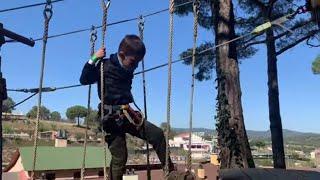 Стефан Прогулка по вершинам деревьев в парке Гномов. En el parque de Gnomos. gulping 이팅 날치알