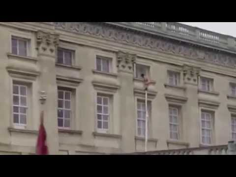 Who is the naked boy escaping Buckingham Palace?  Is it a Hoax?