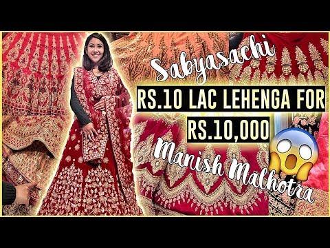 Lehenga Designs  SABYASACHI Lehenga Market in Delhi! ThatQuirkyMiss
