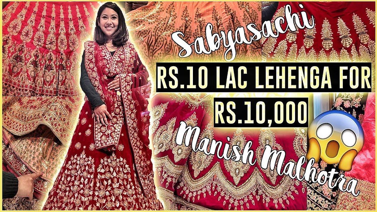 4732aa6334ca Lehenga Designs   SABYASACHI Lehenga Market in Delhi! ThatQuirkyMiss ...