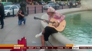 Justin Bieber serenades fiancée (UK) - BBC News - 20th September 2018
