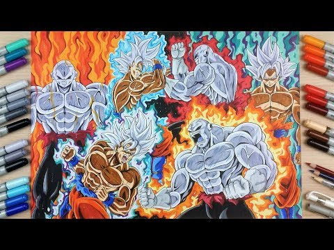 Drawing GOKU vs JIREN ✖️ The EPIC Fight of Dragonball Super ✖️ | TolgArt