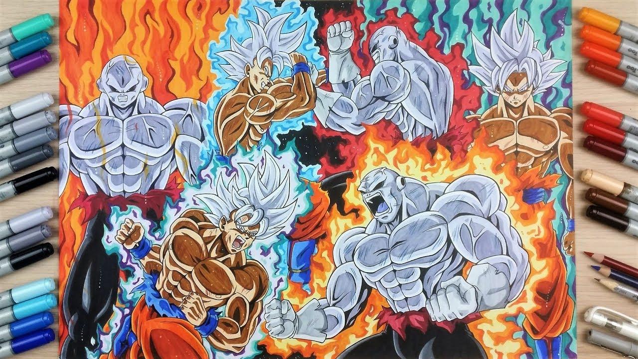 Drawing GOKU vs JIREN ️ The EPIC Fight of Dragonball Super ...