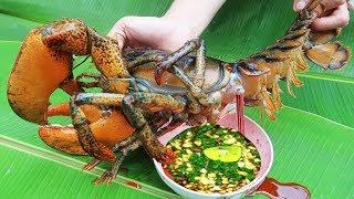 Tiết Canh Tôm Hùm Alaska Món Ăn Độc Lạ Vạn Người Mê . Primitive Survival : Shrimp Soup