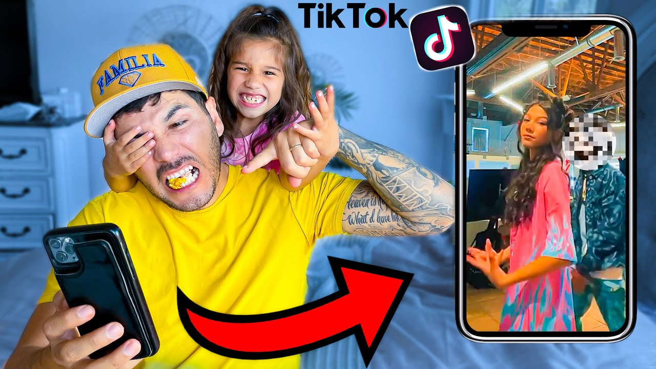 Download DAD Reacts to 12 Year old Daughter's Private TIKTOKS!! | Familia Diamond
