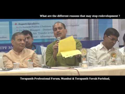 What are the different reasons that may stop redevelopment, Shri. Ramesh Prabhu (CA)