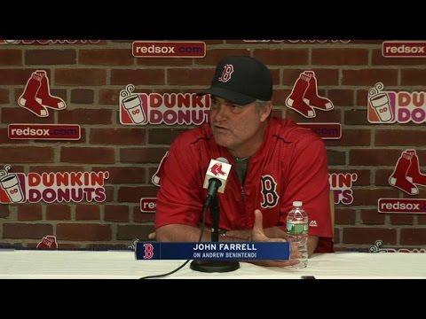BAL@BOS: Farrell on Benintendi