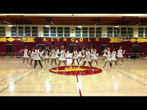 ALHS CHEERLEADERS performing at boys basketball