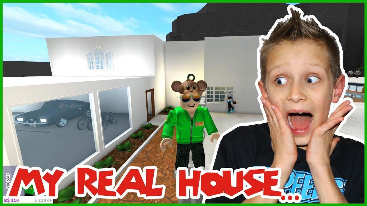 Roblox Ronaldomg Bloxburg My Real House In Bloxburg Youtube