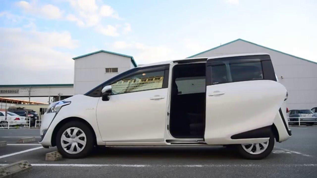 Toyota Sienta Hybrid 電動側滑門開關示範