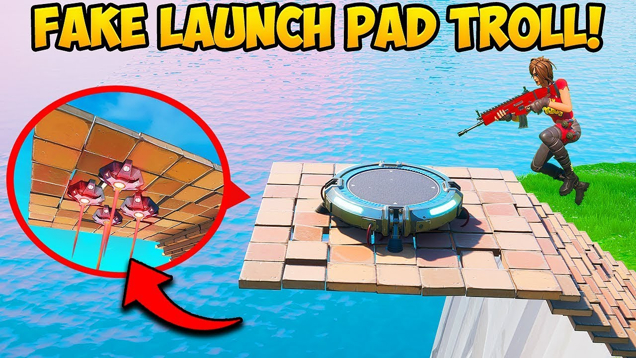 *FAKE* LAUNCH PAD TRAP!! (EPIC) - Fortnite Funny Fails and WTF Moments! #844