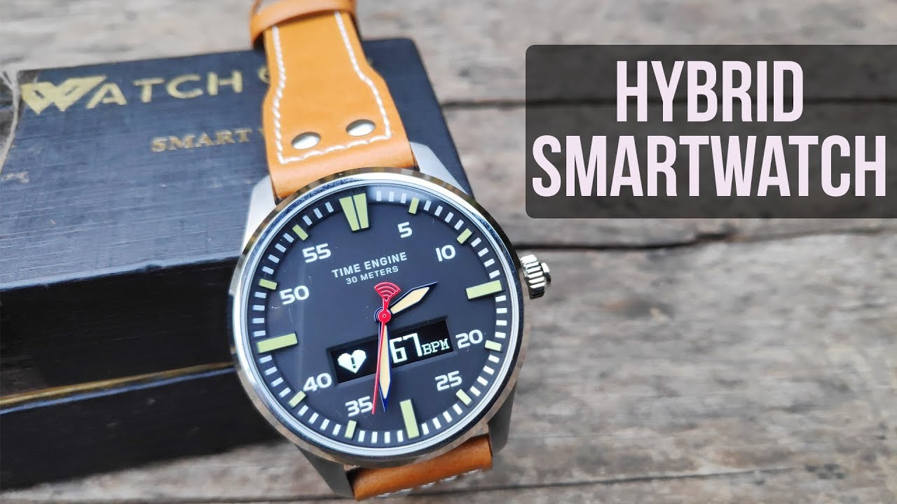 Watchout Wearables Time Engine Hybrid Smartwatch Unboxing & Review | Hindi