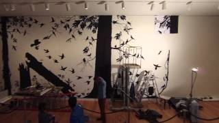 "James Prosek Mural Time-lapse - ""The Singing and the Silence: Birds in Contemporary Art"""