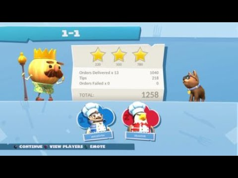 Overcooked 2 - Surf n' Turf - Level 1-1 |