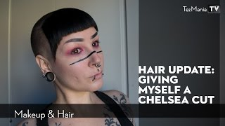 Giving myself a chelsea cut
