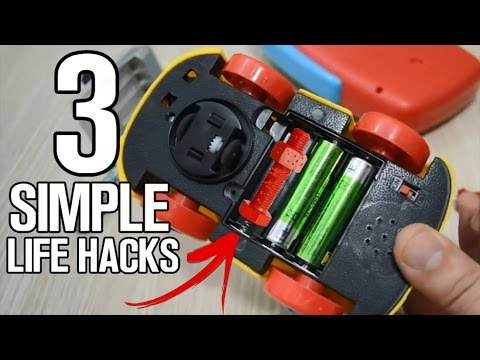 Thumbnail: 3 Simple Life Hacks with Batteries