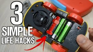 3 simple life hacks with batteries