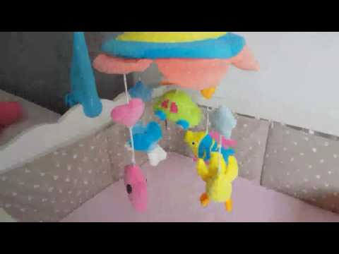 NextX Crib Musical Mobile Baby Cot Mobile Toy, when she see its, is start to smile