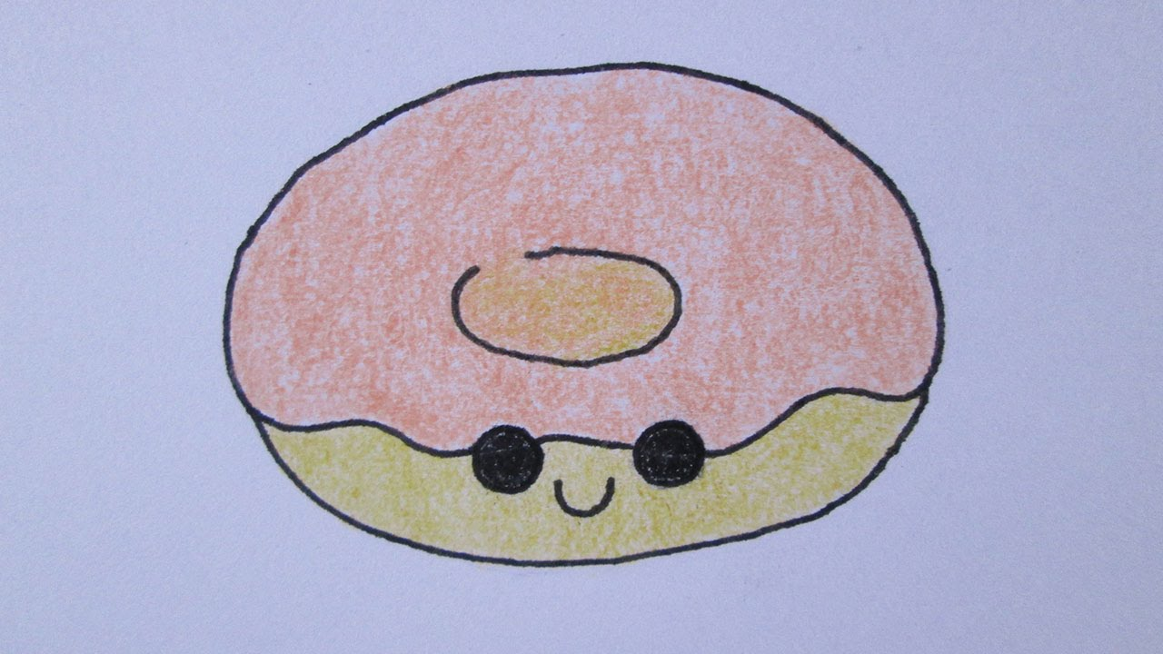 Como Desenhar Uma Rosquinha Fofa