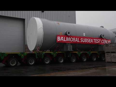 Video journey of giant subsea test vessel through the streets of Aberdeen