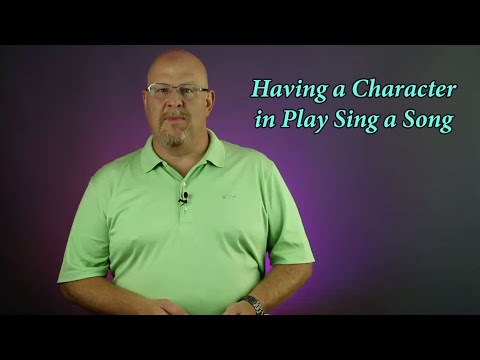 Having a Character in a Play Sing a Song (Grand Rights) - En