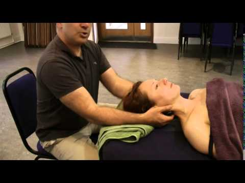 Hot Stone Massage  Neck & Shoulder supine