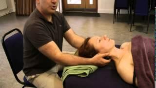Hot Stone Massage  Neck & Shoulder supine
