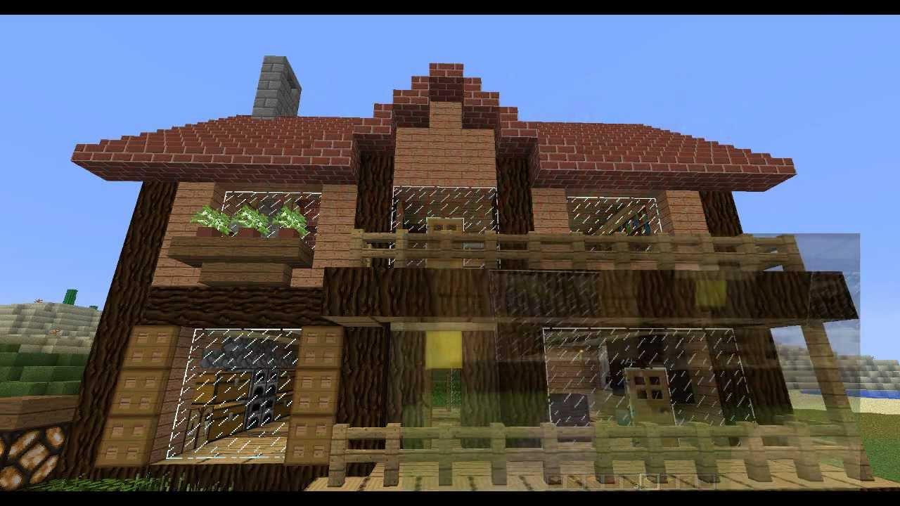 How to build casa minecraft tutorial 3 youtube for Case belle su minecraft
