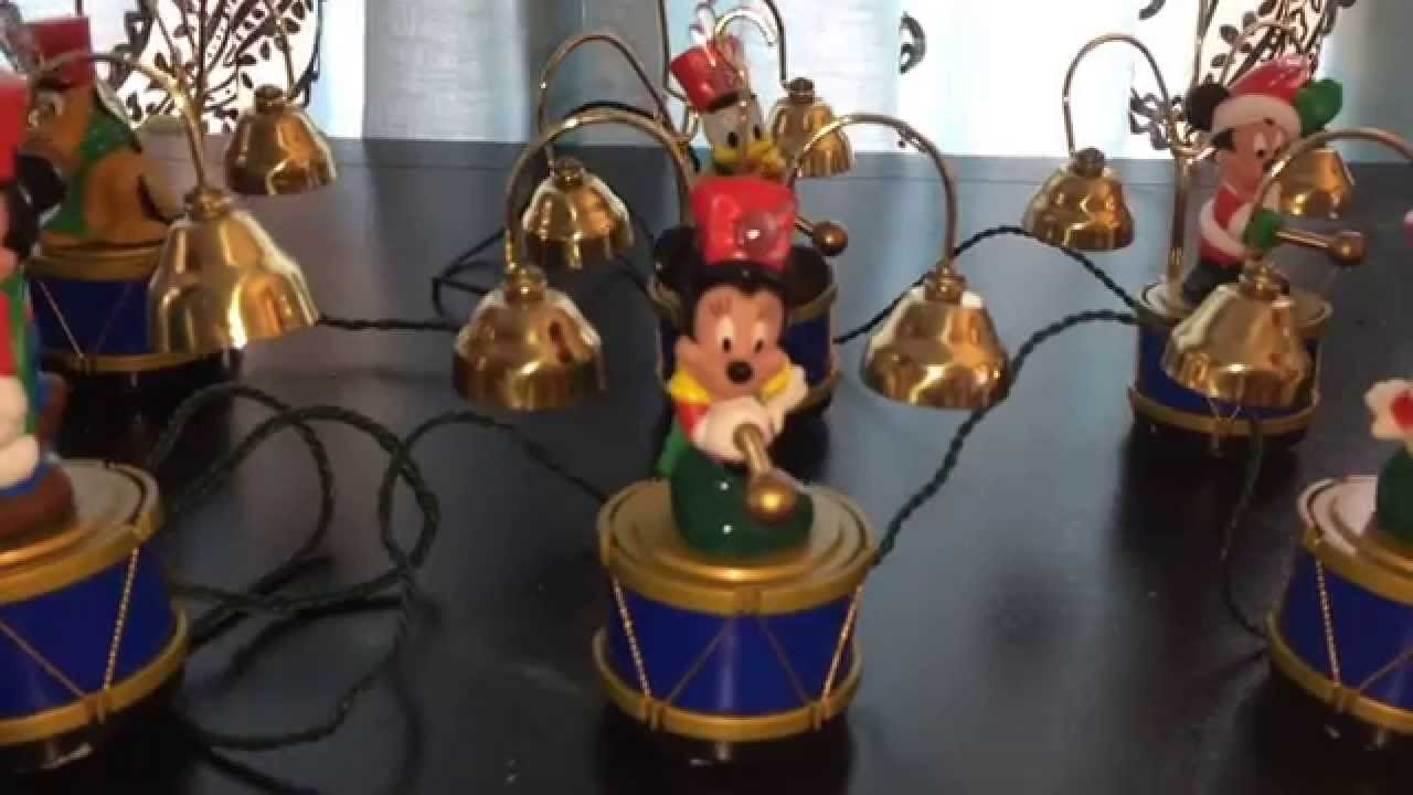 Marching Mickey Mouse Band Christmas Bells Amp Lights Youtube