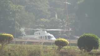 Gorgeous High Decibel Helicopter Take Off From Mahalaxmi Race Course In Mumbai