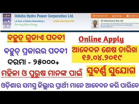 OHPC LTD Recruitment 2019//Various Trainee Post//Helper of Odisha