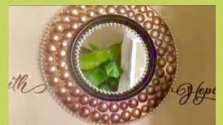 Dollar Tree DIY Wall Mirror Decor Inexpensive Wall art Home Decor Creating Elegance For Less 2018