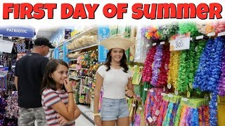 First Day Of SUMMER Break! GRWM For A PARTY Shopping Vlog!