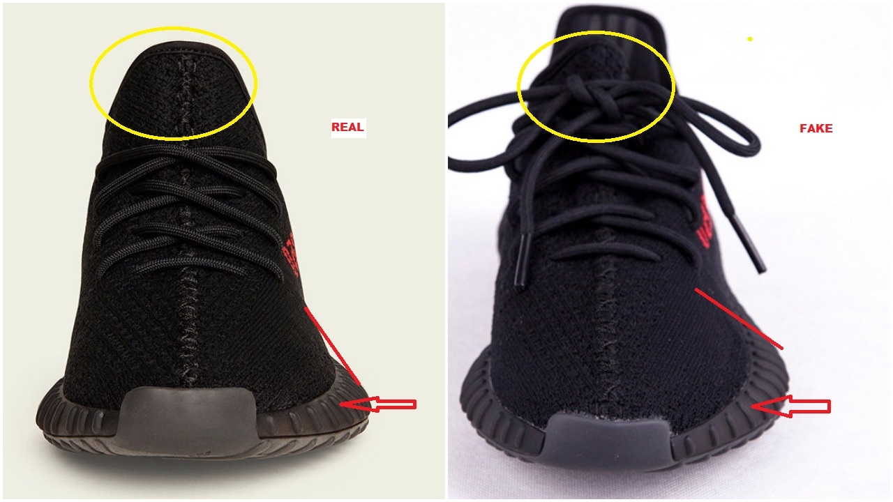 fa5c95908783 Fake Adidas Yeezy Boost 350 V2 Black Red CP9652 Spotted- Quick Tips To  Avoid Them