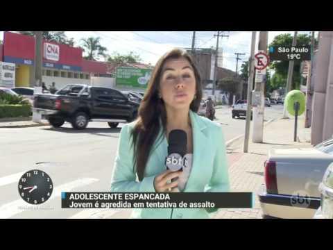 Adolescente é espancada durante tentativa de assalto no interior de SP - SBT Brasil (30/03/17)