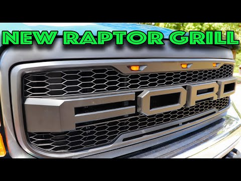 NEW Raptor Style Front Bumper Grille F /& R Letters Replacement for 08-10 Ford F250 F350 F450 Black