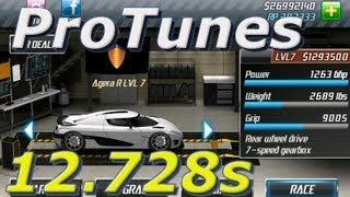 Repeat youtube video Drag Racing v1.6 Agera R 12.728 LVL 7