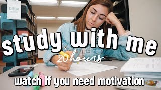 STUDY MOTIVATION #5 | 15+ hour productive study week at college