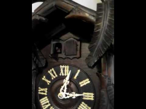 Antique Cuckoo Clock Black Forest German Movement 30 Hour