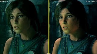 Shadow of the Tomb Raider PS4 Pro vs Xbox One X Very First Graphics Comparison